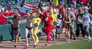 Photos: Huskers play in Halloween costumes