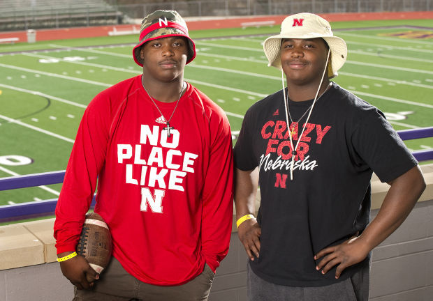 Incoming Husker Davis twins showing talents on a different field