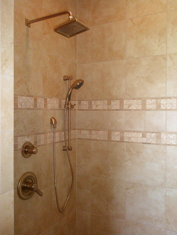 Shower tile floor pan