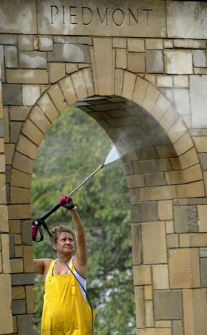 Piedmont arches get a power wash and facelift