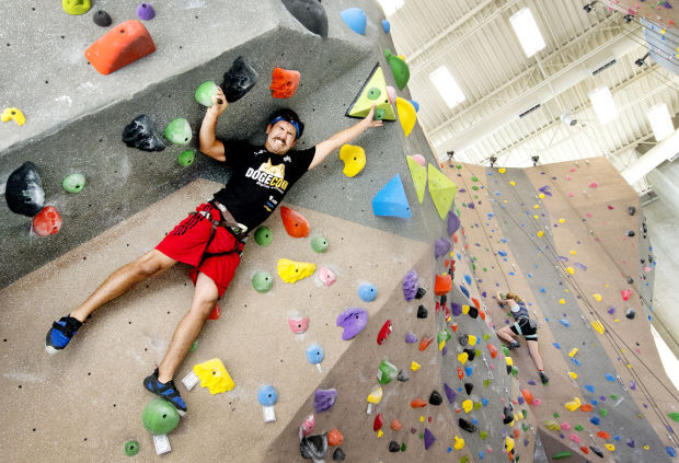 Students, public take to UNL's new climbing wall : The ...