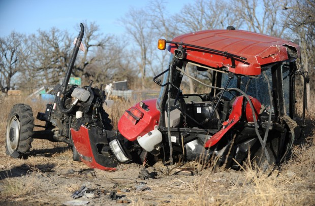 Tractor Pulling Train : Hit by a train and i don t remember anything after that