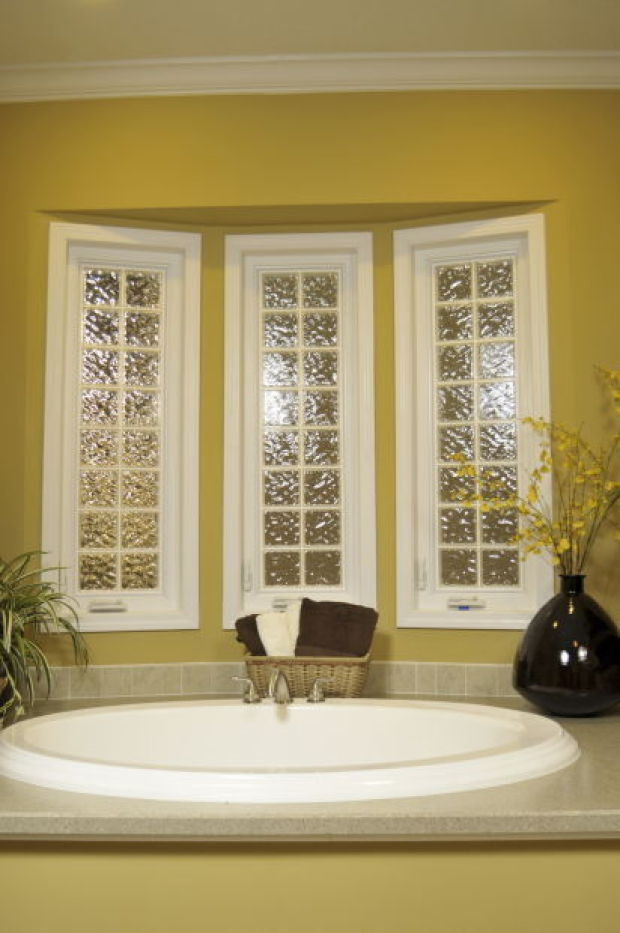 Glass or plastic block windows are efficient and secure Plastic glass block windows