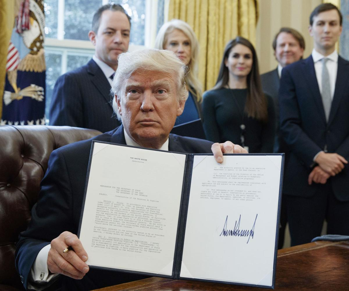 story trump issues executive orders dakota keystone pipelines