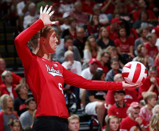 Volleyball: Getting serve in won't suffice for Huskers
