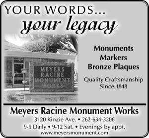 Meyer's Racine Monument Works