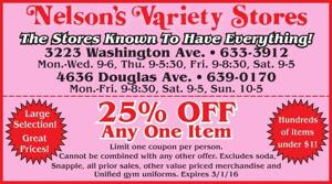 Nelson's Variety