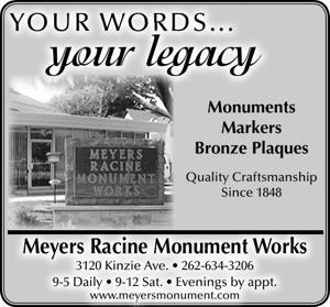 Meyers Racine Monument Works