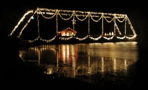 Forget 'Deck the Halls,' how 'bout this decked-out bridge?