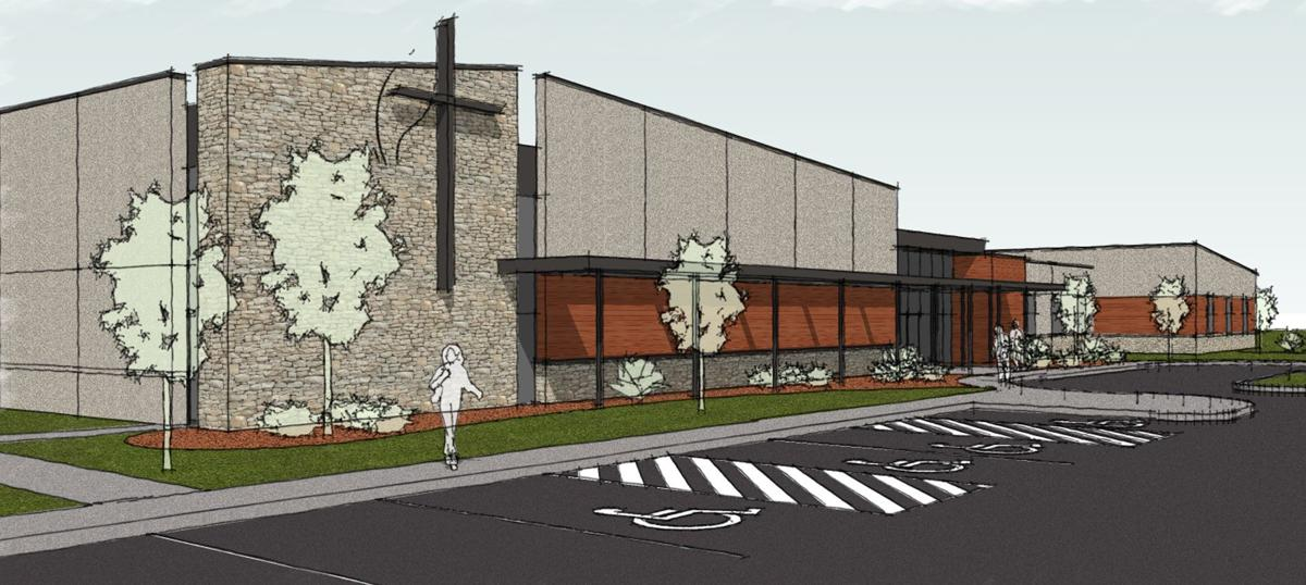 Burlington 39 s grace church plans new building local news for Multi purpose building plans
