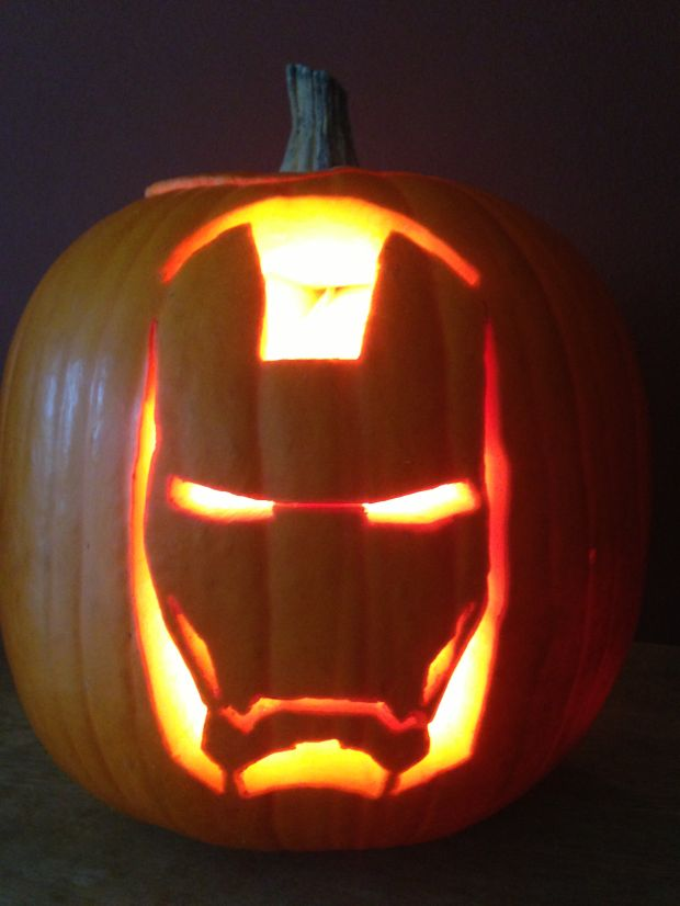Man Pumpkin Carving Ideas Iron Man Pumpkin Carving