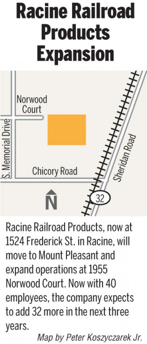 Racine Railroad Products To Expand In Mount Pleasant Local News Journaltimes Com