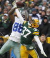 Bryant catch overturned, Dallas falls 26-21 to Packers
