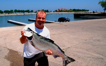 Korducki holds on for salmon a rama title community for Racine harbor fishing report