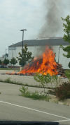 Garbage catches on fire in truck