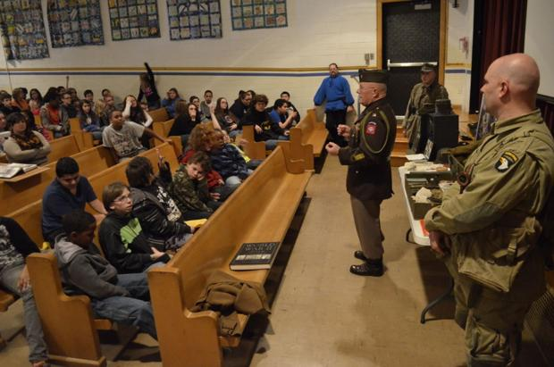 WWII reenactors give students historical experience
