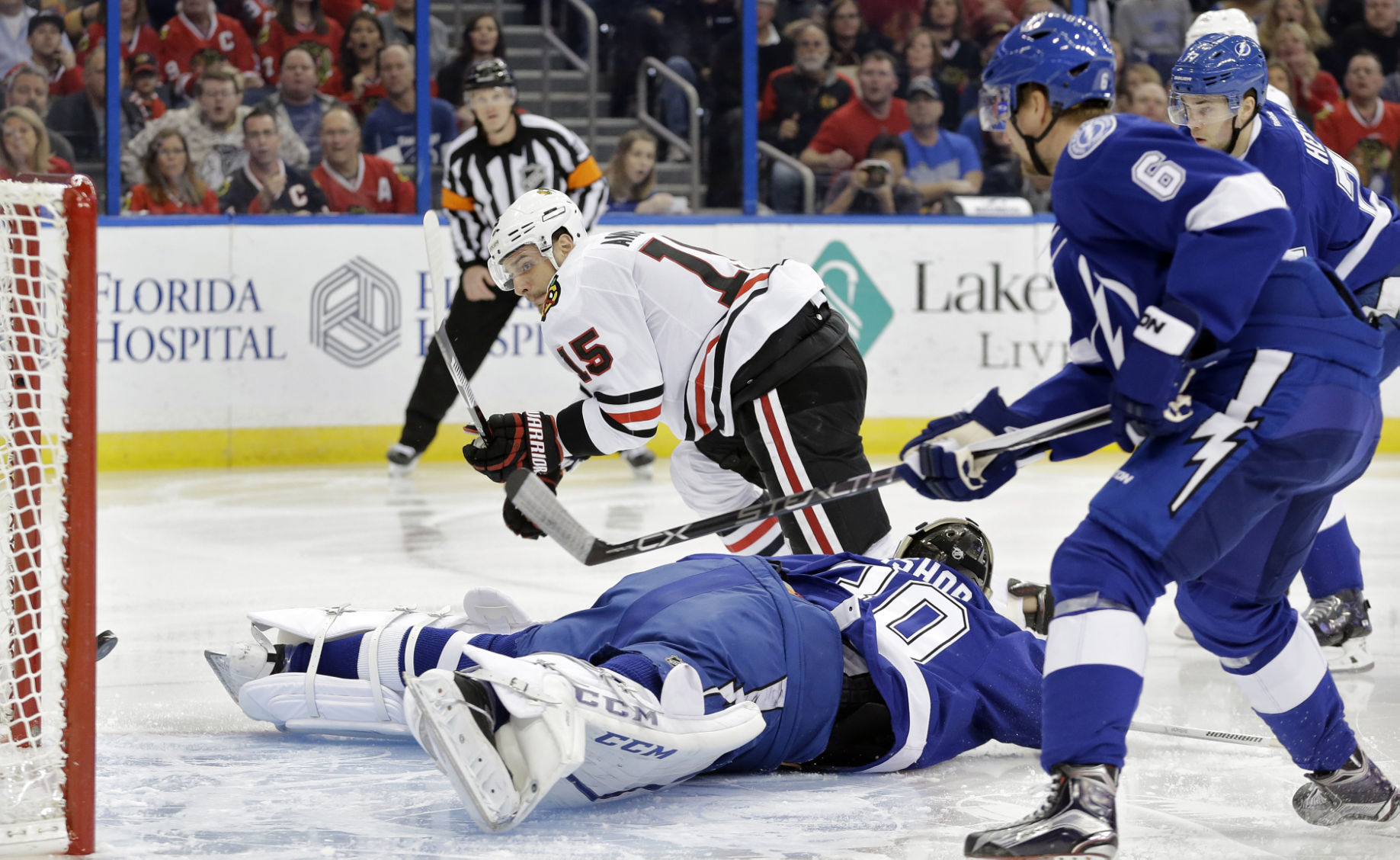 Blackhawks left wing Panik to sit out after oversleeping