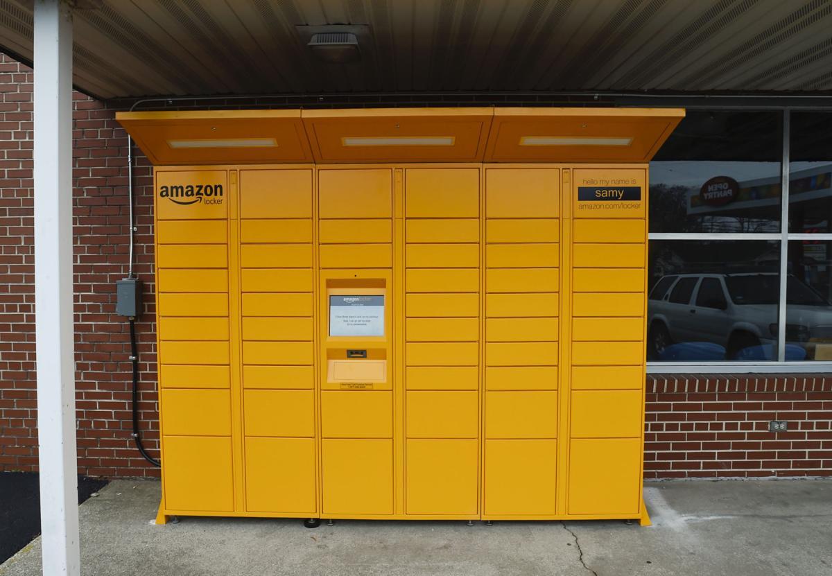 yellow amazon lockers reach racine money. Black Bedroom Furniture Sets. Home Design Ideas