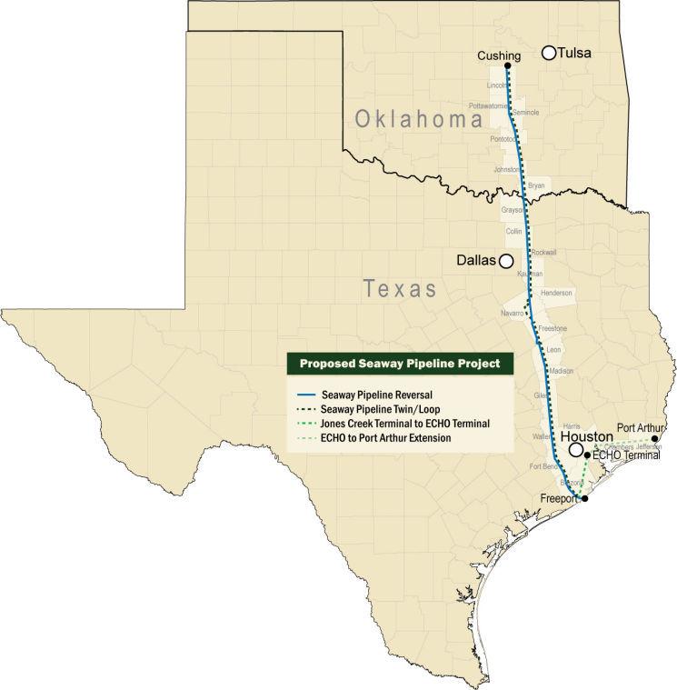 Seaway pipeline work begins in Kaufman County