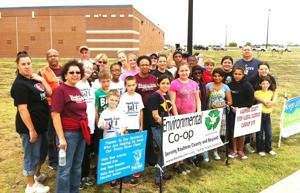 Crandall trash cleanup