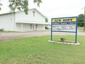 <p>The New Hope Southern Baptist Church is located at 1119 County Road 278 in Post Oak Bend. The congregation welcomes new minister Dr. Jeff Campbell. Sunday morning services are at 11 a.m. with bible study at 10 a.m. and 6 p.m. There is a Wednesday evening prayer meeting at 7 p.m. each week.</p>