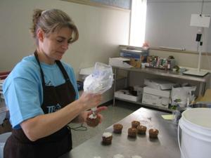 LINDA SEALS, owner of K-Town Cakes