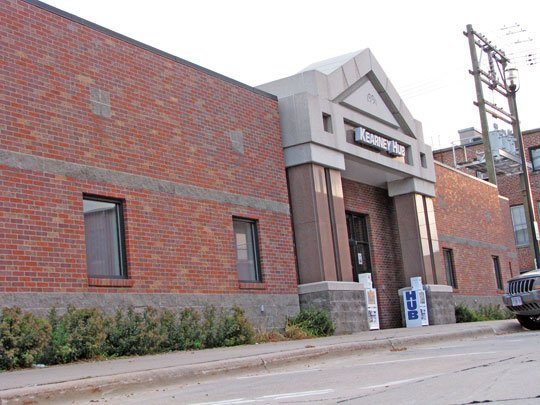 Kearney Hub exterior downtown Kearney, Nebraska