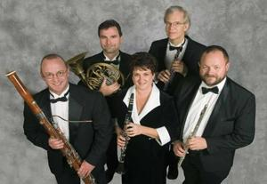 Players of Moran Quintet create sounds in different color combinations