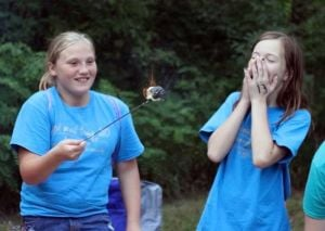 Tasty fun at Girl scout camp