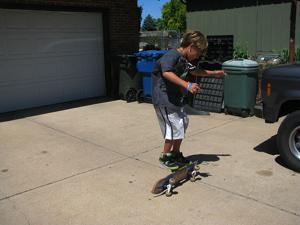 Jeremiah Staab practicing tricks (2)