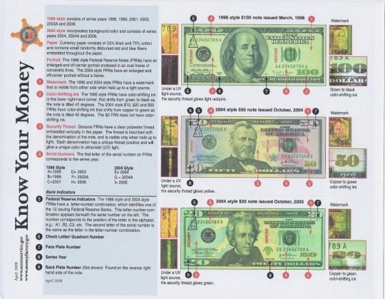 Counterfeit $100 bill originally a $5 note - Kearney Hub: Local