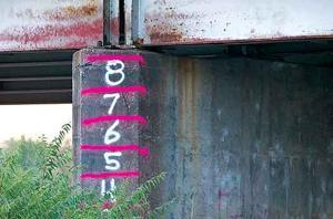 Water height measurements
