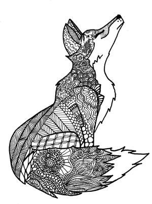 Kearney woman 39 s Zentangle coloring