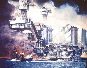 Japanese bombing of Pearl Harbor on Dec. 7, 1941