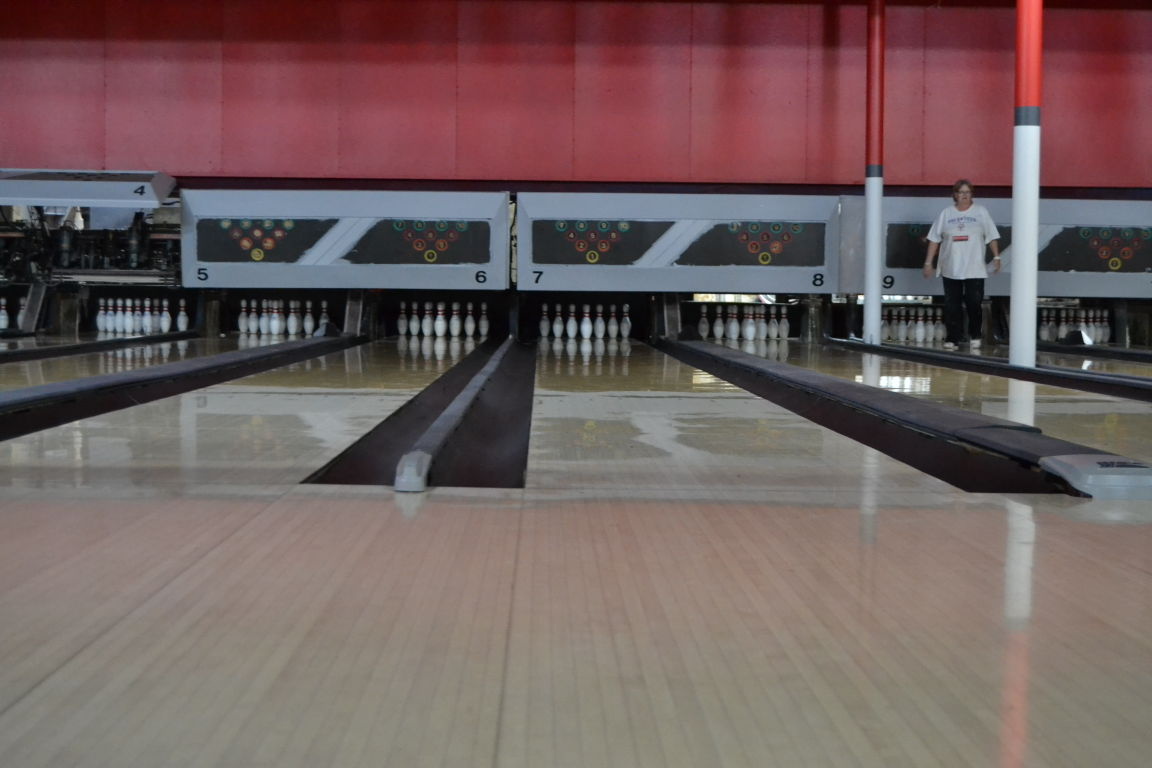 bowling alley reopens with new roof game specials first frame