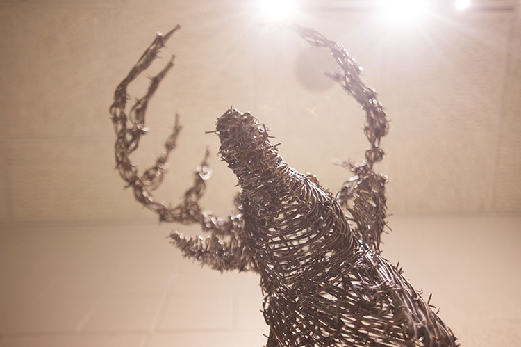 Barbed wire artist promotes artistic ability news