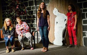 Drama students give back