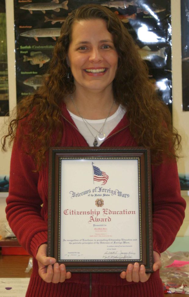 marybeth marx selected vfw of the year westbytimes