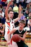 Mustang basketball battles but falls to Bangor