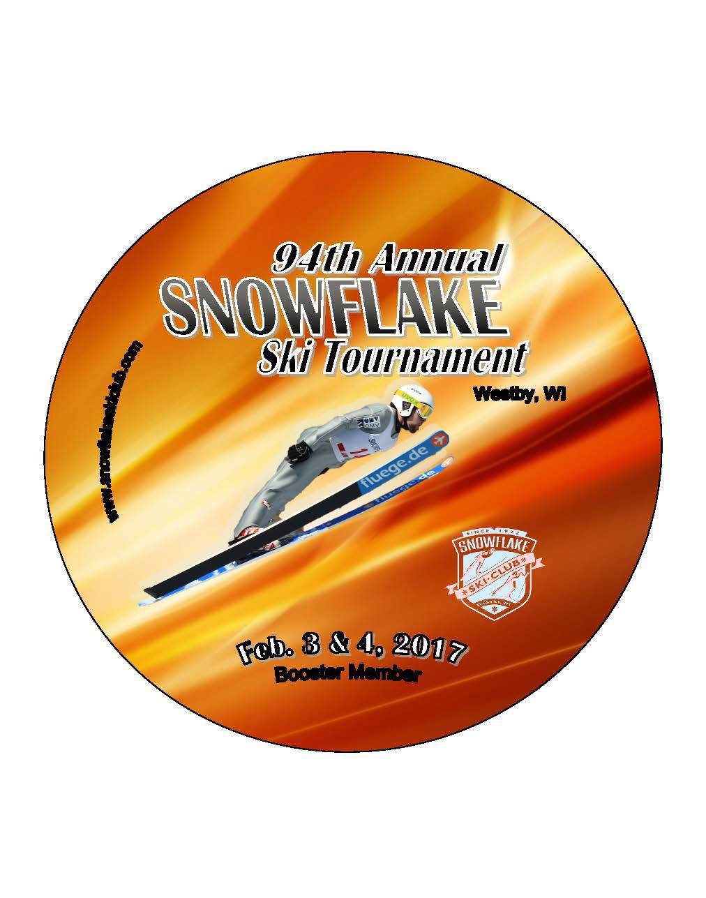 2017 Snowflake Ski Buttons On Sale Local