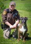 Deputy's boxer is A-1 among K-9s