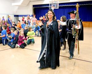 Photos: Coulee Region Mardi Gras visits Crucifixion School