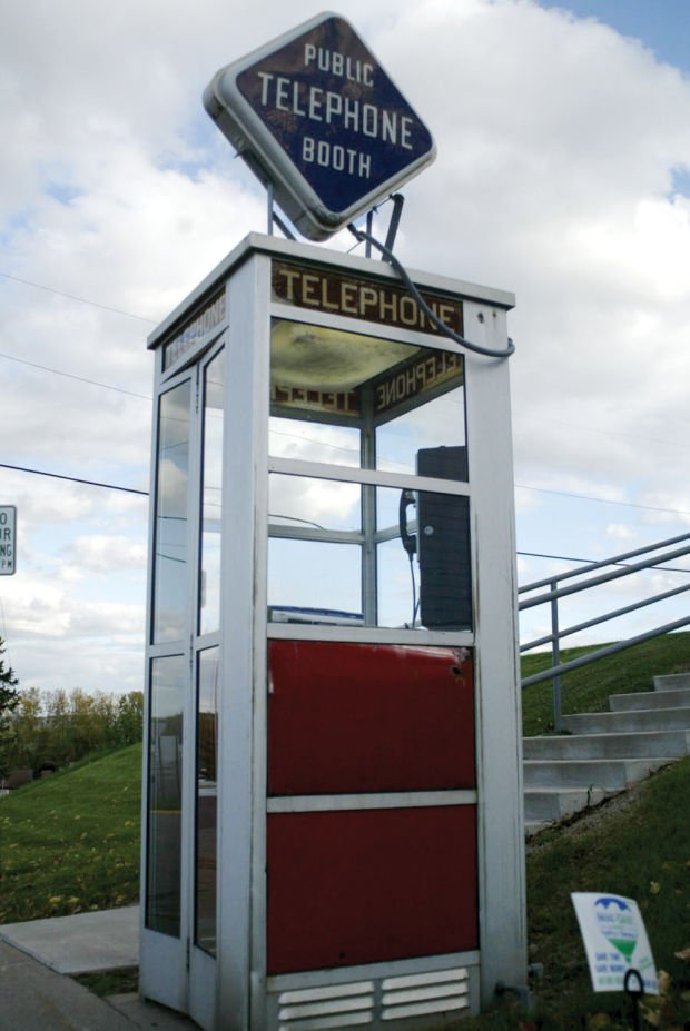 the last american phone booth   houston county news