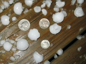Quarter-size hail falls in Viroqua Saturday night