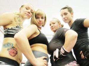 Women MMA fighters on the rise