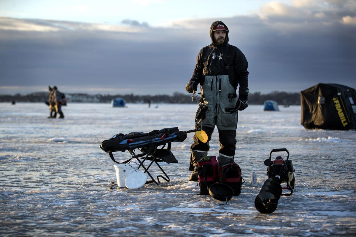 Conditions improving for ice fishing in minnesota sports for Peak fishing times for today