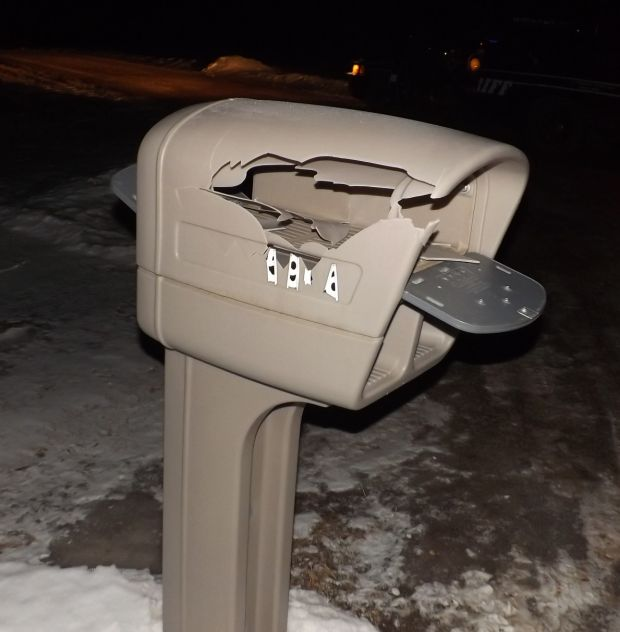 Damaged mailboxes