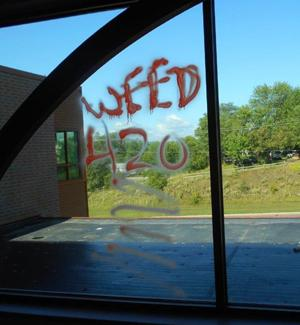 Reward offered in school graffiti incident