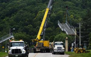 Photos: Hwy. 14 Pedestrian Bridge Removal (9/9/14)