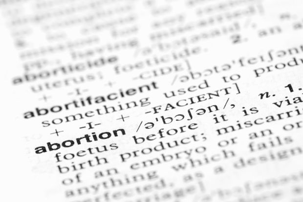 definition of abortion Abortion definition is - the termination of a pregnancy after, accompanied by,  resulting in, or closely followed by the death of the embryo or fetus: such as how  to.